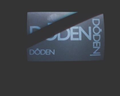 Tv skärm med information om programmet Döden döden döden på SVT.
