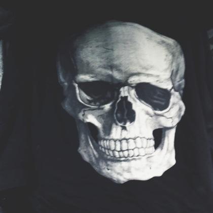 Dödskalle tryck på t-shirt